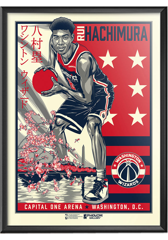 Washington Wizards Rui Hachimura Framed Posters - Image 2
