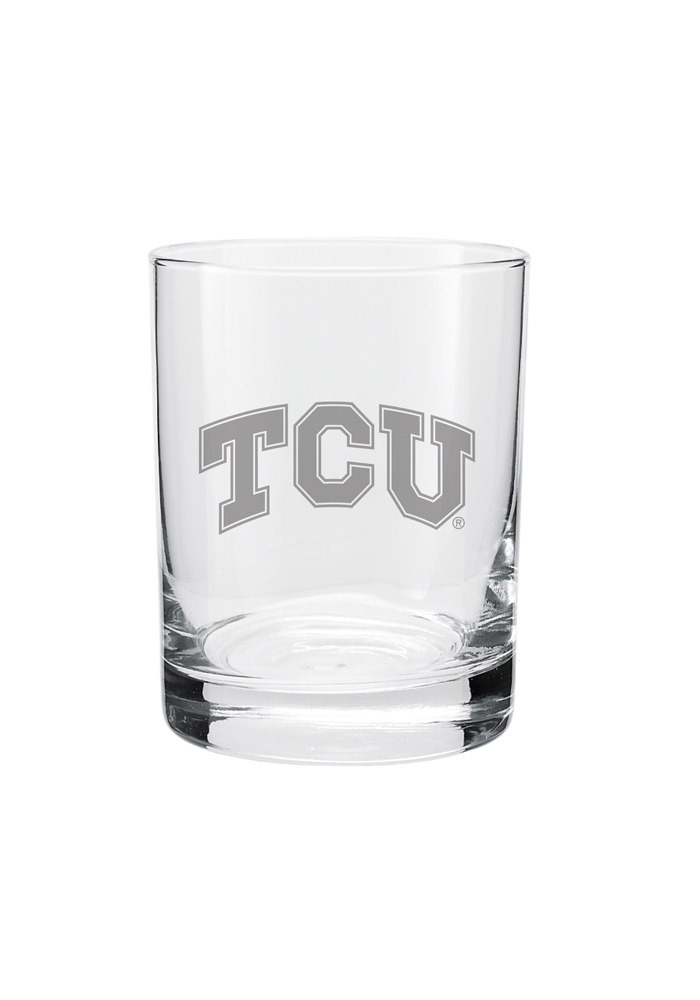 TCU Horned Frogs Frosted Logo Rock Glass - Image 1