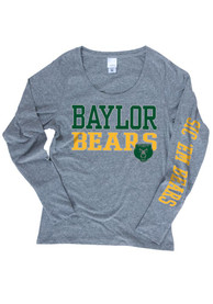 Baylor Bears Womens Grey Twisted Slub Women's Scoop