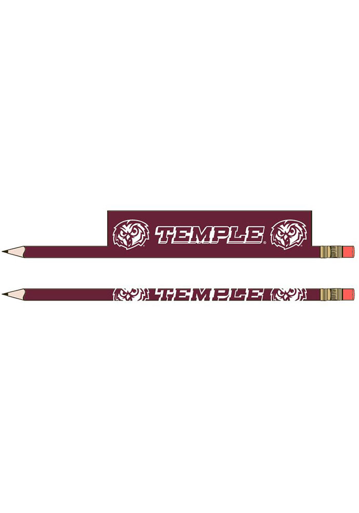 Temple Owls 5-Pack Pencil - Image 1