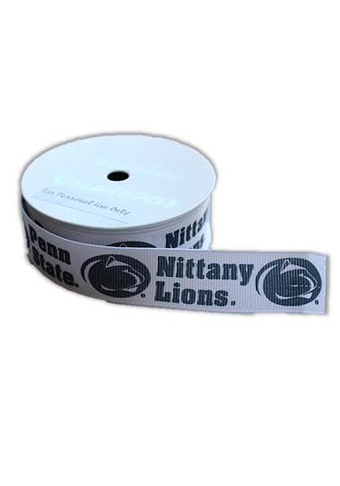 Penn State Nittany Lions 7/8 Inch 3 Yard Spool Kids Hair Ribbons - Image 1