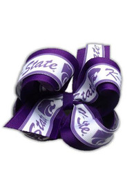 K-State Wildcats Kids Overlap Bow Hair Ribbons - Purple