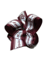 Texas A&M Aggies Kids Overlap Hair Ribbons - Maroon
