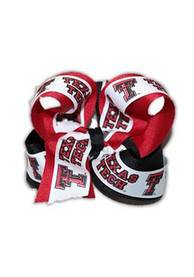 Texas Tech Red Raiders Kids Overlap Hair Ribbons - Red