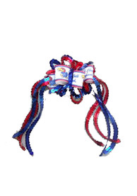 Kansas Jayhawks Baby Sequin Loop Hair Ribbons - Blue