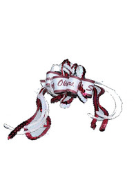Oklahoma Sooners Baby Sequin Loop Hair Ribbons - White