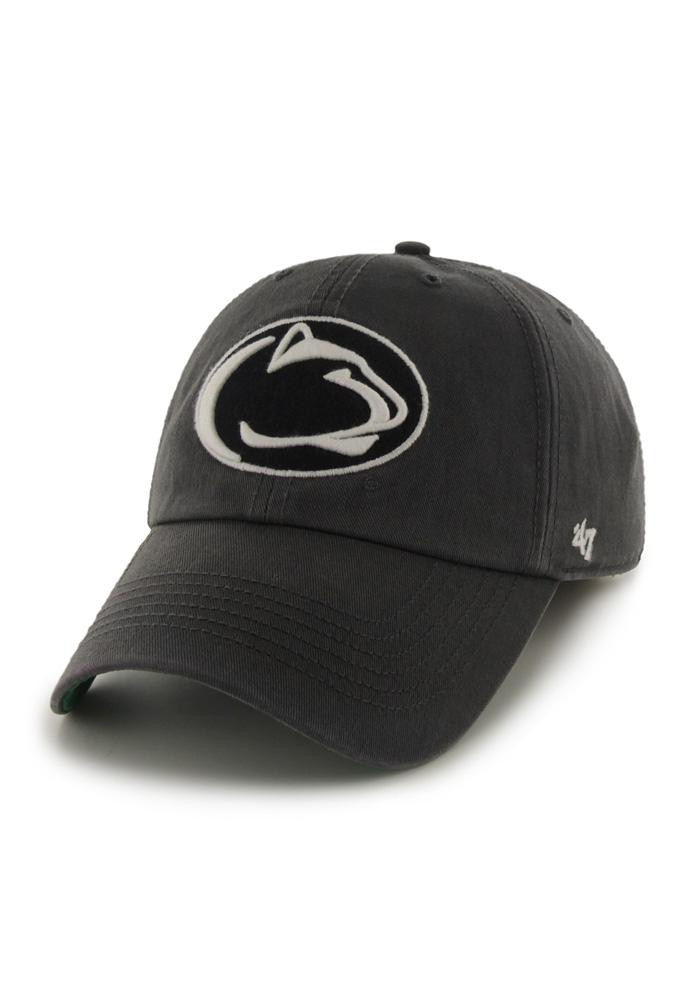 '47 Penn State Nittany Lions Mens Grey 47 Franchise Fitted Hat - Image 1