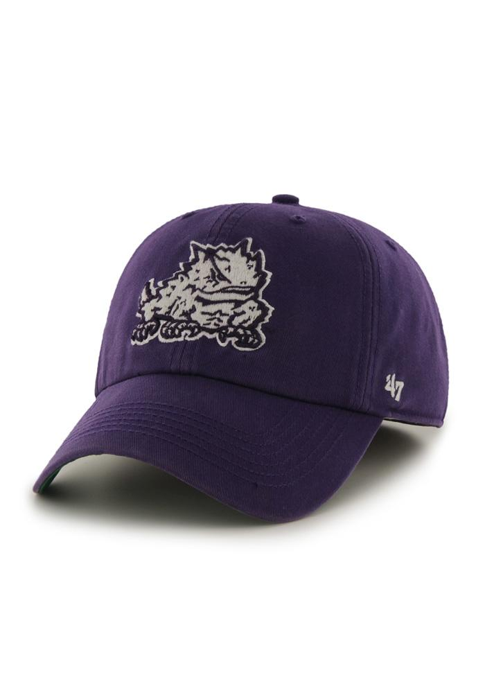 '47 TCU Horned Frogs Mens Purple 47 Franchise Fitted Hat - Image 1