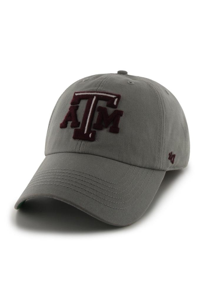 '47 Texas A&M Aggies Mens Grey 47 Franchise Fitted Hat - Image 1