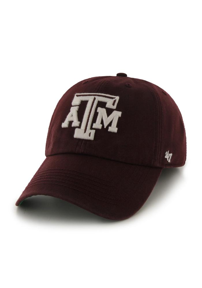 '47 Texas A&M Aggies Mens Maroon 47 Franchise Fitted Hat - Image 1