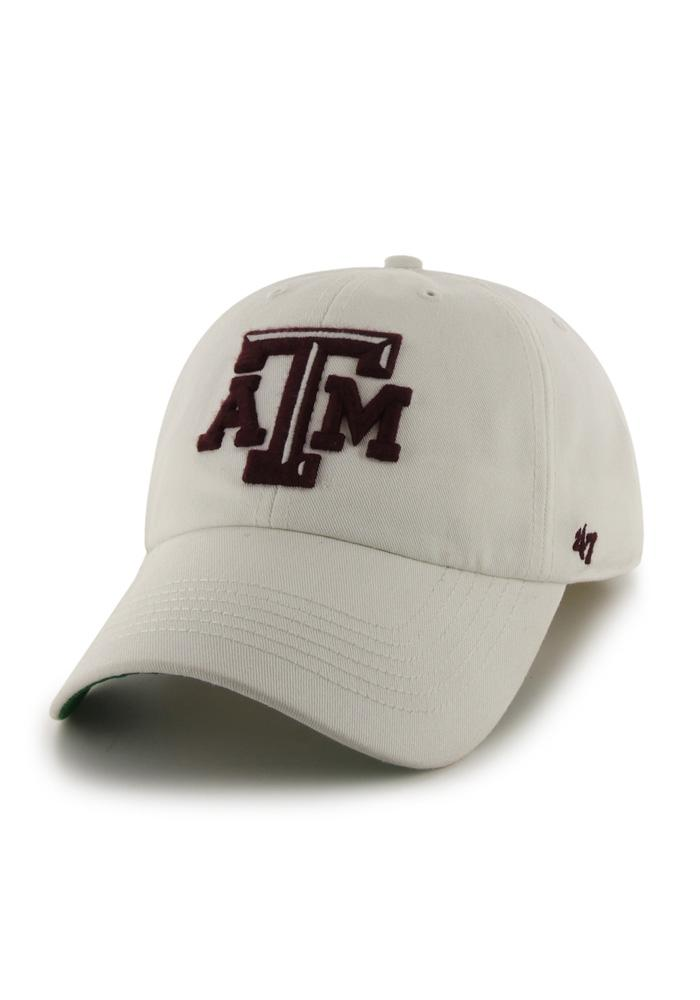 '47 Texas A&M Aggies Mens White 47 Franchise Fitted Hat - Image 1