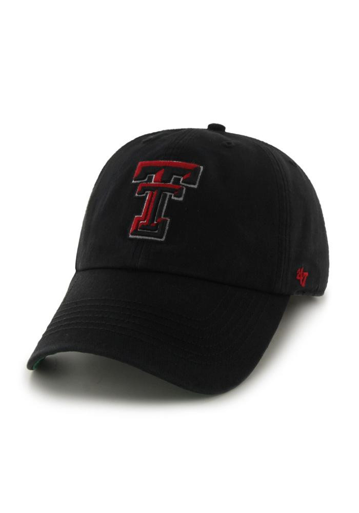 '47 Texas Tech Red Raiders Mens Black 47 Franchise Fitted Hat - Image 1