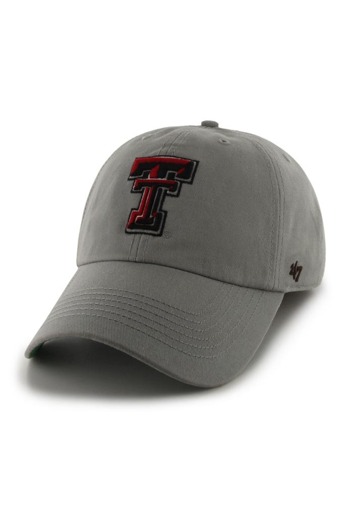 '47 Texas Tech Red Raiders Mens Grey 47 Franchise Fitted Hat - Image 1