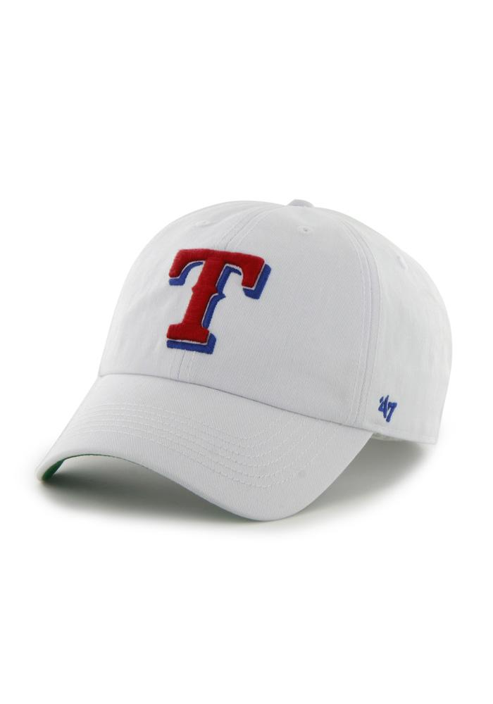 '47 Texas Rangers Mens White 47 Franchise Fitted Hat - Image 1