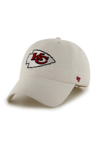 47 Kansas City Chiefs Clean Up Adjustable Hat - White