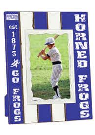 TCU Horned Frogs Striped Picture Frame