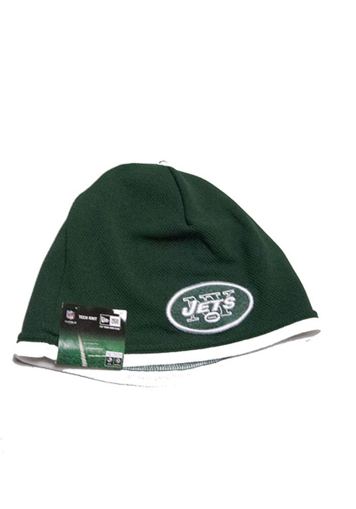 New Era New York Jets Green Tech Mens Knit Hat - Image 1