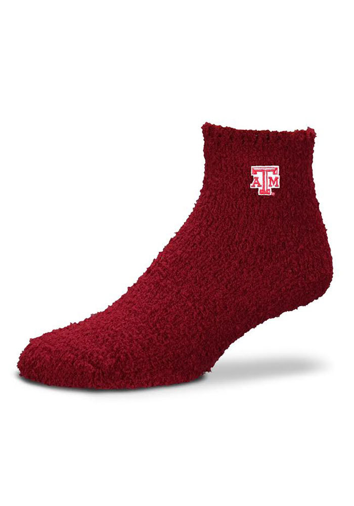 Texas A&M Aggies Maroon Sleep Soft Womens Quarter Socks - Image 1