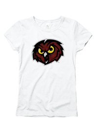 Temple Owls Girls White Glitzy T-Shirt