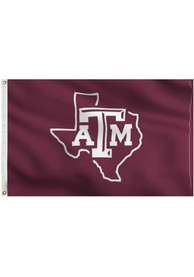 Texas A&M Aggies 3x5 Maroon State Grommet Applique Flag
