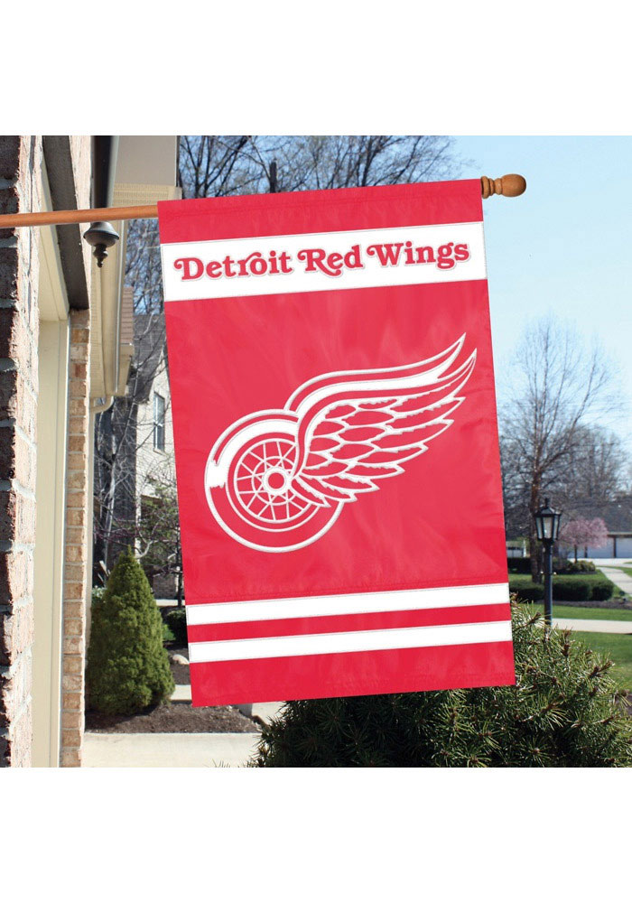 Detroit Red Wings 44x28 Applique Sleeve Banner - Image 1