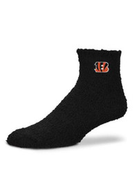Cincinnati Bengals Womens Black Sleep Soft Quarter Socks - Black