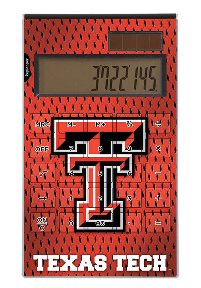 Texas Tech Red Raiders graphic standard calculator Desk and Office Calculator - Image 1