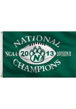 Northwest Missouri State Bearcats Division II National Champs 3x5 Green Silk Screen Grommet Flag