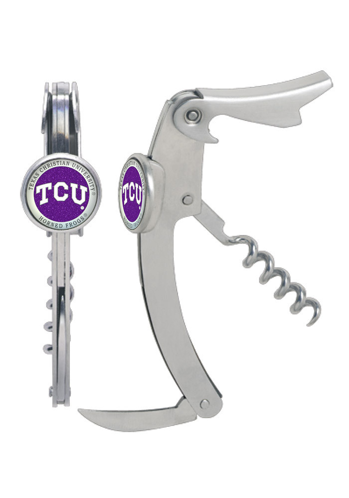 TCU Horned Frogs Cork Puller Wine Accessory - Image 1