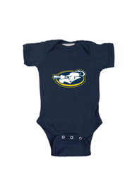 La Salle Explorers Baby Navy Blue Embroidered Logo One Piece