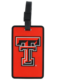 Texas Tech Red Raiders Rubber Luggage Tag - Red