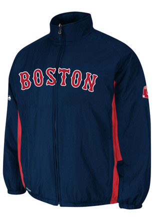 Majestic Boston Red Sox Mens Navy Blue On-Field Heavyweight Jacket