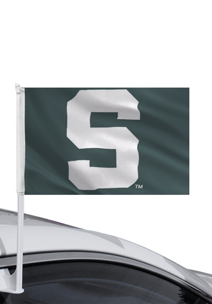 Michigan State Spartans 11x16 Car Flag - Green - Image 1