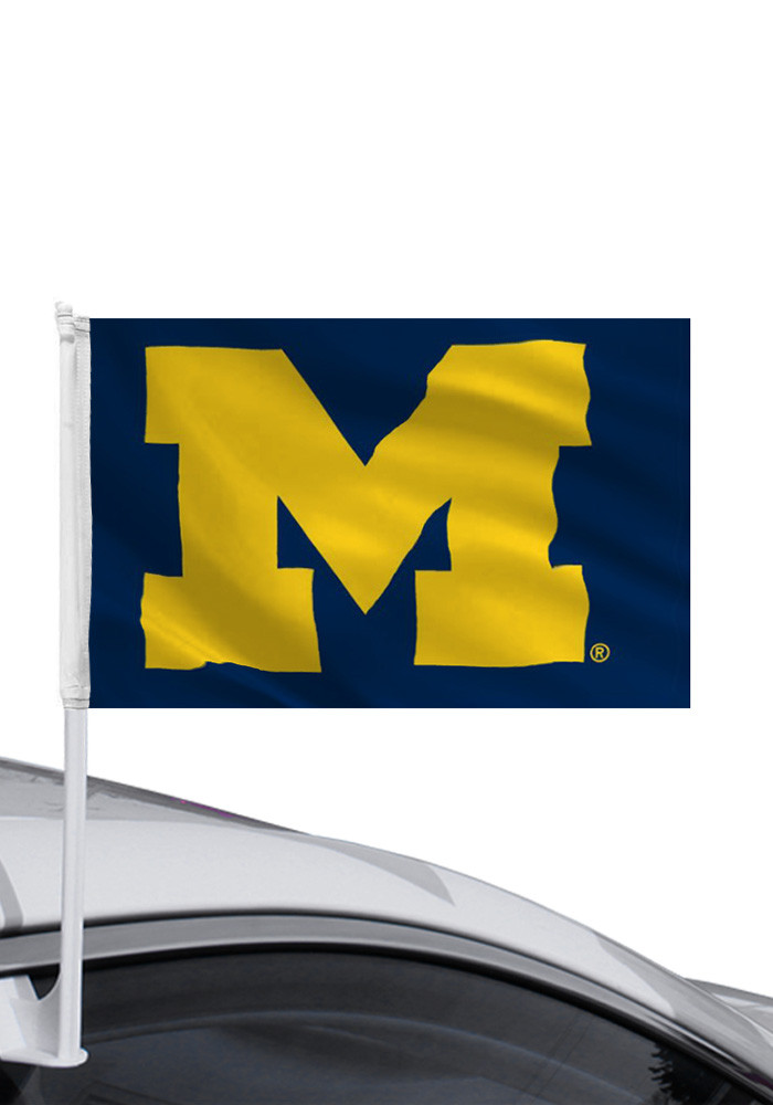 Michigan Wolverines 11x16 Car Flag - Image 1
