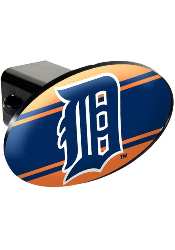 Detroit Tigers Plastic Oval Car Accessory Hitch Cover - Image 1