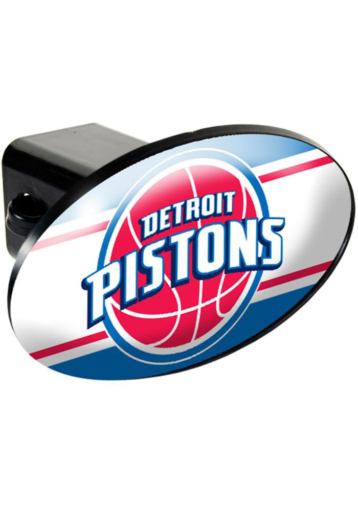 Detroit Pistons Plastic Oval Car Accessory Hitch Cover - Image 1