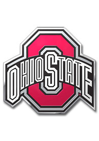 Sports Licensing Solutions Ohio State Buckeyes Aluminum Color Car Emblem - Red