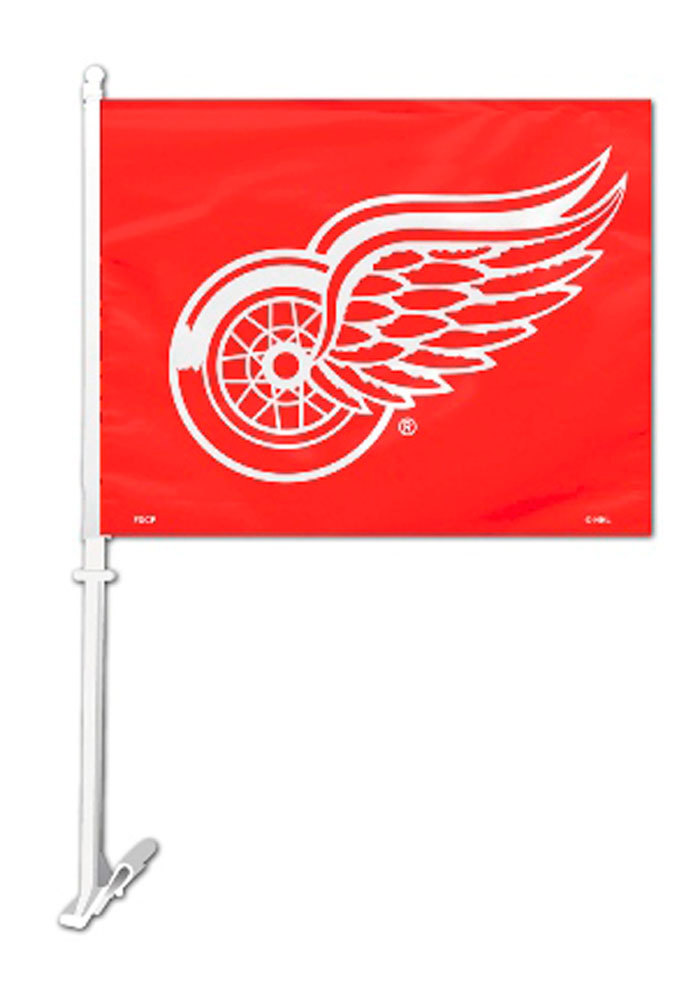 Detroit Red Wings 11x14 Red Car Flag - Red - Image 1