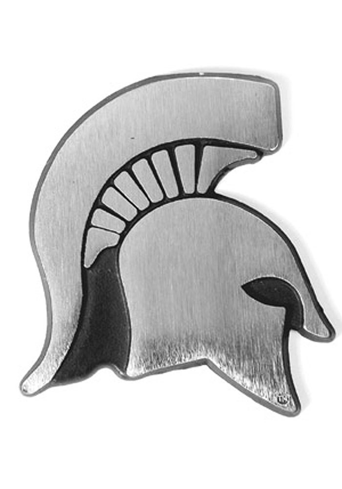 Michigan State Spartans Stainless Car Emblem - Silver
