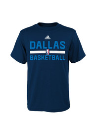 Dallas Mavericks Youth Blue Youth Practice T-Shirt