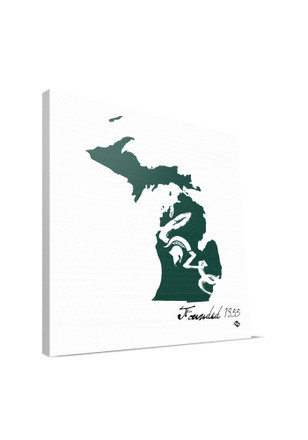 Michigan State Spartans State 12x12 Wall Art