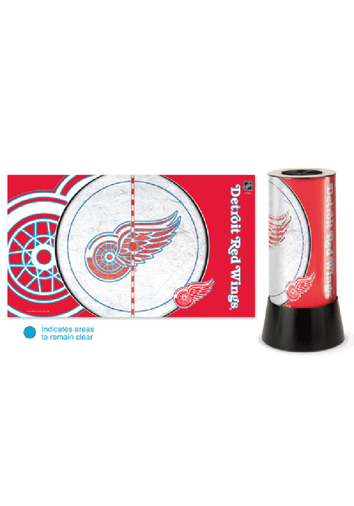 Detroit Red Wings Field View Rotating Table Lamp - Image 1