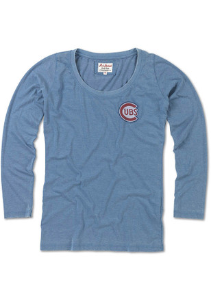 Chicago Cubs Womens Midland Blue Scoop Neck Tee