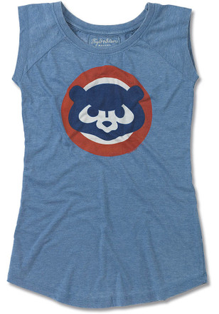 Chicago Cubs Womens Blue Meteor Tank Top