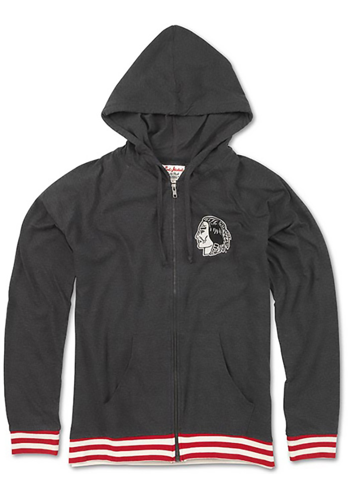 Chicago Blackhawks Womens Grey Selene Full Zip Jacket