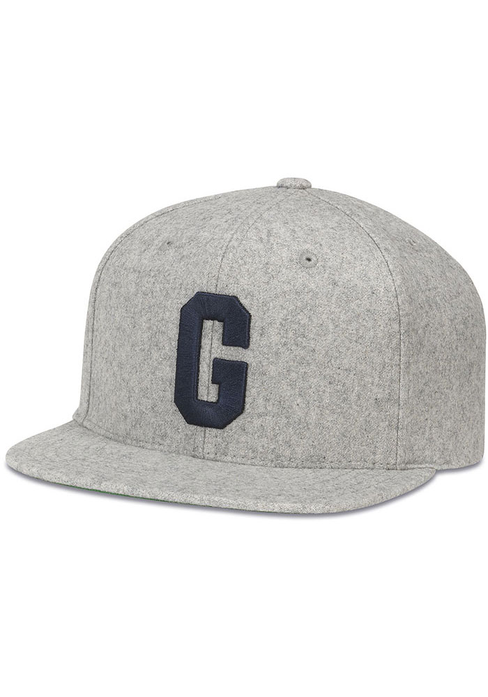 Homestead Grays Grey Replica Mens Snapback Hat - Image 1
