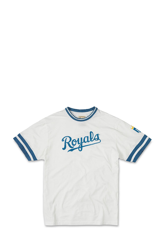 Kansas City Royals Mens White screen print and applique Short Sleeve Fashion T Shirt - Image 1