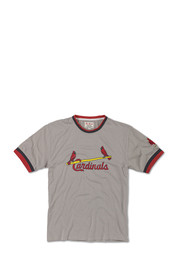 St Louis Cardinals Grey screen print and applique Fashion Tee
