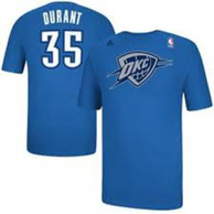 Kevin Durant Oklahoma City Thunder Blue Christmas Day Player Tee