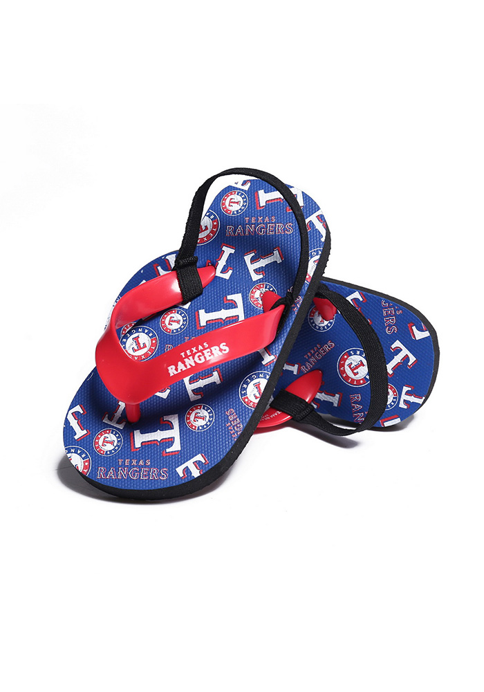 Texas Rangers Logo Youth Slippers - Image 1